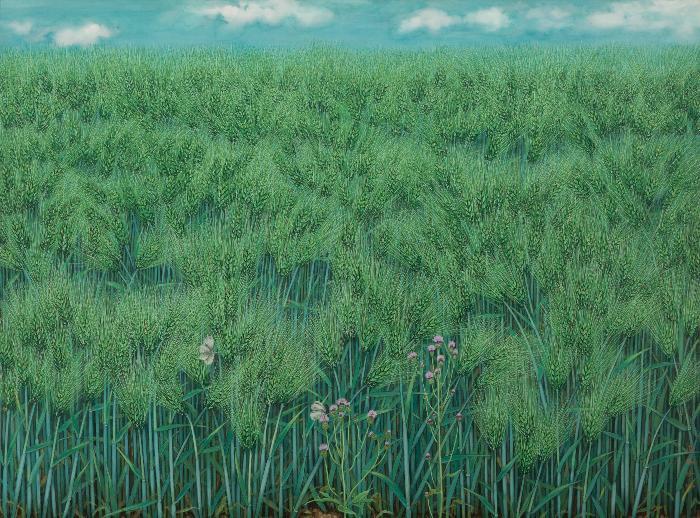 2004-6 푸른 보리밭-엉겅퀴, 흰나비 한 쌍Ⅰ