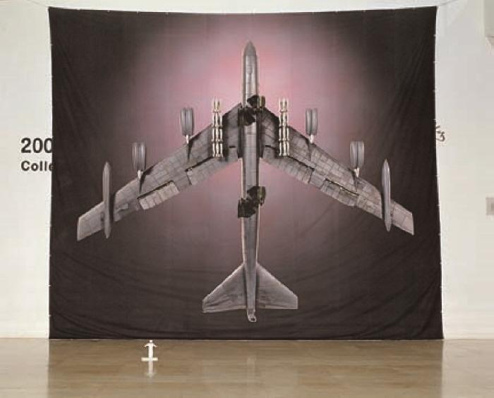 크기의 비교 B - 52 : 빈 라덴 (1/10스케일)