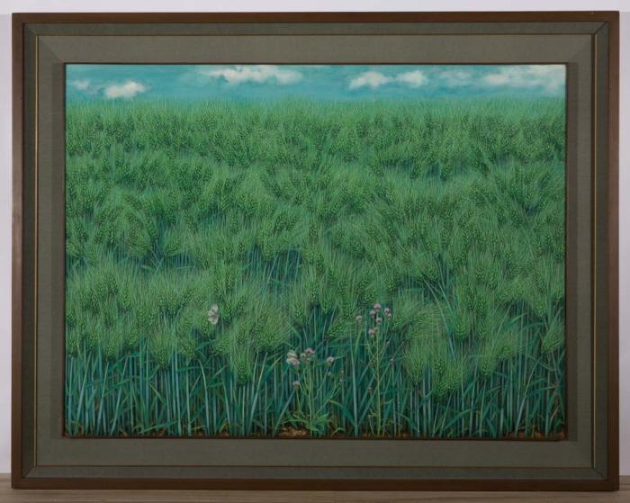 2004-6 푸른 보리밭  - 엉겅퀴, 흰나비 한 쌍Ⅰ