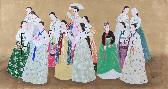미인도_꽃 축제(화전놀이)연작-B