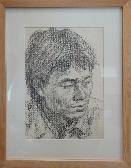 얼굴 스케치 /1990 /김인순